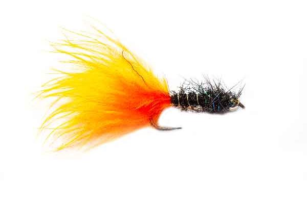 Fishing Flies Hot Orange Marabou Spectra Leech