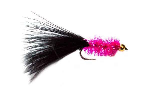 Pink and Black Marabou Leech