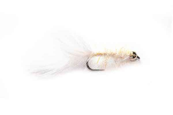 White Killer Spectra Leech Trout Fly