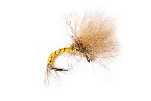 Lancaster Yellow Auto CDC Emerger Fishing Flies